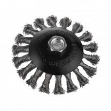 Щётка по металлу DNIPRO-M, K115-V, M14, конусная, плетеная проволока, 115 мм (Б/У)