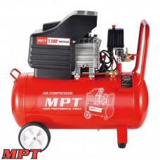 Компрессор MPT PROFI  50 л, 2000 Вт/2.5 л.с., 2850 об/мин, 140 л/мин, 8 атм, 2 выхода, медная обмотка