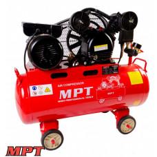Компрессор MPT PROFI  50 л, 1500 Вт/2 л.с., 1050 об/мин, 170 л/мин, 8 атм, медная обмотка