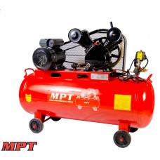 Компрессор MPT PROFI 100 л, 2500 Вт/3 л.с., 1080 об/мин, 250 л/мин, 8 атм, медная обмотка