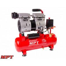 Компрессор MPT PROFI OIL FREE 10 л, 600 Вт, 1450 об/мин, 7 атм, медная обмотка, бесшумный