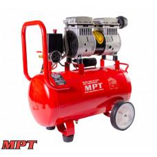 Компрессор MPT PROFI OIL FREE 24 л, 800 Вт, 1450 об/мин, 7 атм, медная обмотка, бесшумный