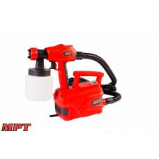 Краскопульт MPT электрический 500 Вт 800 мл, 50 DIN/сек., Ø 1,8-2,6 мм, 850 мл/мин, 1,5-2,5 бар