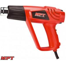 Фен MPT промышленный 2000 Вт, 350-550*С, 300-500 л/мин, аксесс 5 шт
