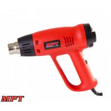 Фен MPT промышленный PROFI 2000 Вт, 60-630*С, 300-500 л/мин, насадки 2 шт.
