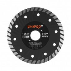 Алмазный диск DNIPRO-M 125 22,2, Turbowave (Б/У)