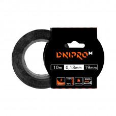 Изоляционная лента DNIPRO-M, черная, PVC, 0.18 мм х 19 мм 10 м