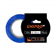 Изоляционная лента DNIPRO-M, синяя, PVC, 0.18 мм х 19 мм 10 м