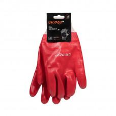 Перчатки DNIPRO-M oil resist, маслобензостойкие, х/б, PVC, 10р., красные