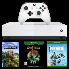 Игровая приставка Xbox One S 1TB All-Digital Edition + Minecraft + Sea Of Thieves + Fortnite