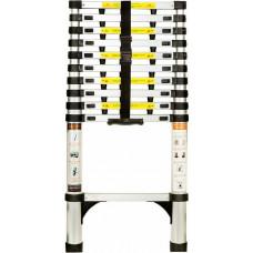 Лестница алюминиевая телескопическая ДТ-139 3,8 м + чехол