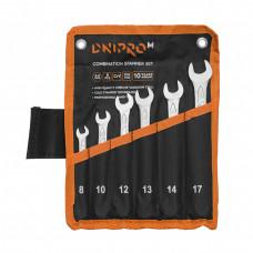 Набор ключей рожково-накидных Dnipro-M 6 шт. (8, 10, 12, 13, 14, 17 мм)