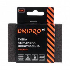 """Губка абразивная шлифовальная """"DNIPRO-M"""" 100*70*25мм, мягкая Р120"""