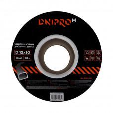 Уплотнитель самоклеющийся DNIPRO-M D-тип, 12*10мм,  белый, 50м
