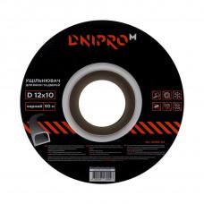 Уплотнитель самоклеющийся DNIPRO-M D-тип, 12*10мм, черный, 50м