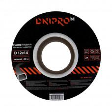 Уплотнитель самоклеющийся DNIPRO-M D-тип, 12*14мм, черный, 40м