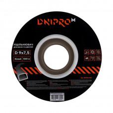 Уплотнитель самоклеющийся DNIPRO-M D-тип, 9*7,5мм, белый, 100м