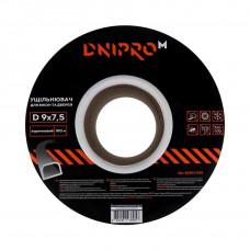 """Уплотнитель самоклеющийся """"DNIPRO-M"""" D-тип, 9*7,5мм, коричневый, 100м"""