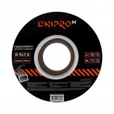 """Уплотнитель самоклеющийся """"DNIPRO-M"""" D-тип, 9*7,5мм, черный, 100м"""