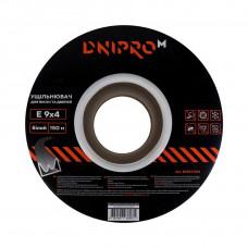 """Уплотнитель самоклеющийся """"DNIPRO-M"""" E-тип, 9*4мм, белый, 150м"""