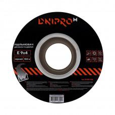 Уплотнитель самоклеющийся DNIPRO-M E-тип, 9*4мм, черный, 150м