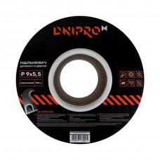 """Уплотнитель самоклеющийся """"DNIPRO-M"""" P-тип, 9*5,5мм, коричневый, 100м"""
