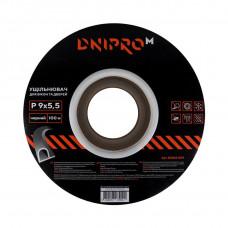 Уплотнитель самоклеющийся DNIPRO-M P-тип, 9*5,5мм, черный, 100м