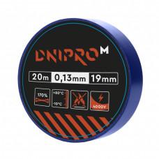 Изолента DNIPRO-M Синяя 20м x 19мм x 0,13мм