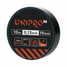 Изолента DNIPRO-M Черная 10м x 19мм x 0,13мм