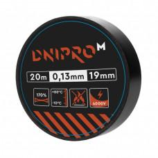 Изолента DNIPRO-M Черная 20м x 19мм x 0,13мм