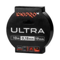 Изолента DNIPRO-M Ultra Черная 10м х 19мм х 0,18мм